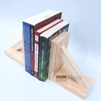 Aparador para livros suporte em madeira. Entregas no Brasil, Suporte para Livros imagem