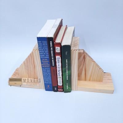Aparador de livros, suporte, madeira pinus natural Entregas no Brasil, Suporte para Livros imagem