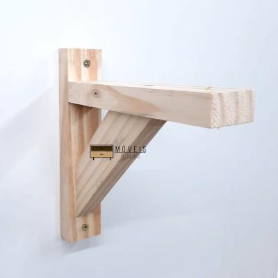 Mão francesa feito em madeira pinus 20x20 + buchas e parafusos Expositor de Plantas imagem