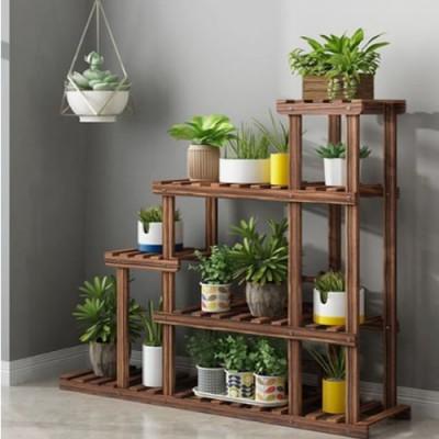 Suporte para vasos de plantas em madeira 09