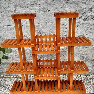 Suporte para vasos de plantas em madeira 07