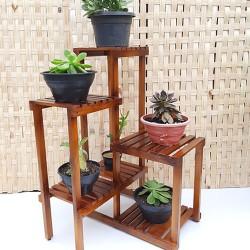 Estante para plantas madeira modelo 15
