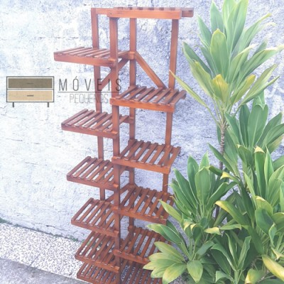 Expositor de plantas Modelo 44 cor imbuia imagem