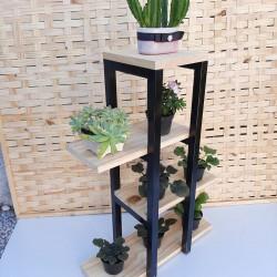 Expositor para Plantas feito em ferro e Madeira modelo  60