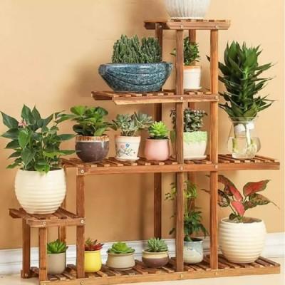 Suporte para vasos de plantas em madeira 03 Floreira, Suporte para Plantas imagem