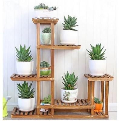 Suporte para vasos de plantas em madeira modelo 02 imagem