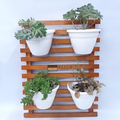 Painel Floreira Jardim Vertical 50 X 40 Cm verniz resistente área externa e interna Suporte para Plantas imagem