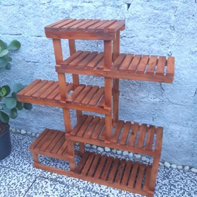 Estante para Plantas 32 cor Imbuia Suporte para Plantas, Expositor de Plantas imagem