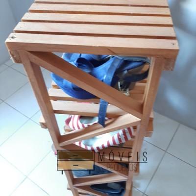 Sapateira madeira 5 prateleira imagem