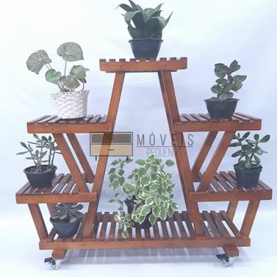 Estante para Plantas modelo 06 cor Imbuiaa Suporte para Plantas, Expositor de Plantas imagem