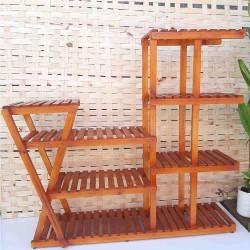 Suporte para vasos de plantas em madeira 29 cor Imbuia