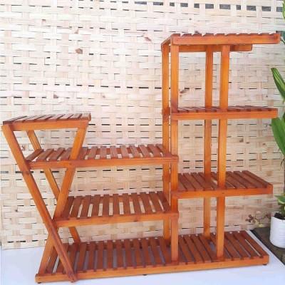 Suporte para vasos de plantas em madeira 29 cor Imbuia imagem