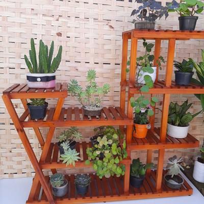 Suporte para vasos de plantas em madeira 29 imagem