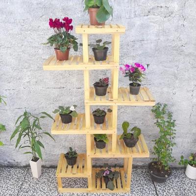 Suporte de planta feito em madeira modelo 35 Suporte para Plantas, Expositor de Plantas imagem