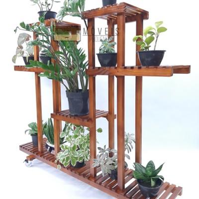 Suporte para vasos de plantas madeira modelo 48 Suporte para Plantas, Expositor de Plantas imagem