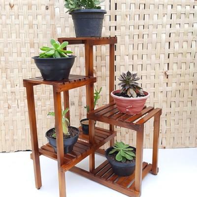 Estante para plantas madeira modelo 15 imagem