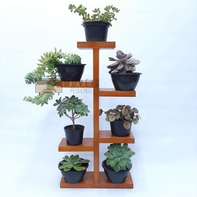 Mini estante para plantas suculentas modelo 03 imagem