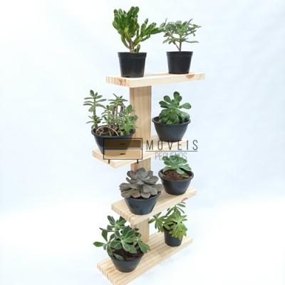 Prateleira para suculentas, flores e plantas 09 Suporte para Plantas, Expositor de Plantas, Entregas no Brasil imagem