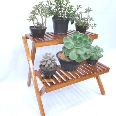Estante para plantas tipo escada cor imbuia modelo 79 plantas e decoração Estantes, Floreira imagem