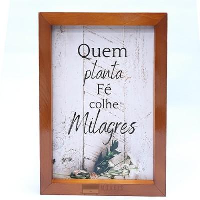 Quadro decorativo Quem planta fé colhe milagres imagem