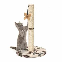 Arranhador para Gatos Torre com Brinquedo Borboleta