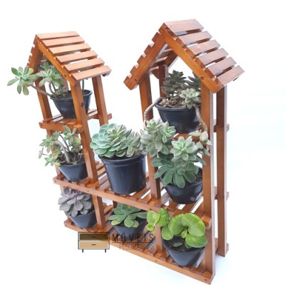 Mini floreira para plantas suculentas e vasos pequenos modelo 11 Suporte para Plantas, Expositor de Plantas, Entregas no Brasil imagem
