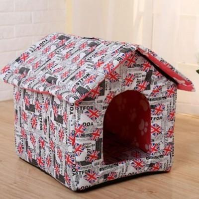 Casa Casinha Pets Para Cães, Cachorro E Gatos Dobrável Cama Portátil Com Almofada - P imagem