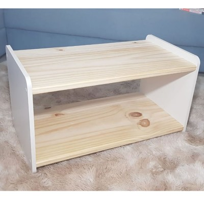 Mesa de centro MDF e madeira imagem