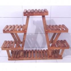 Suporte para vasos de plantas em madeira 06