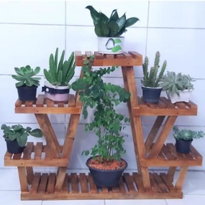 Expositor para vasos de plantas em modelo 06 Suporte para Plantas imagem