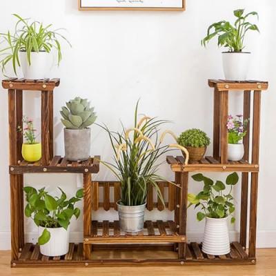 Suporte para vasos de plantas em madeira 10 Suporte para Plantas imagem
