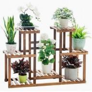 Suporte para vasos de plantas em madeira 11