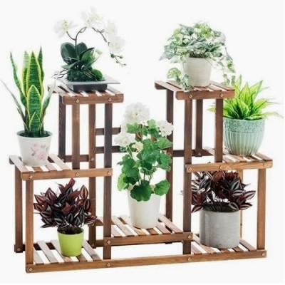 Suporte para vasos de plantas em madeira 11 imagem