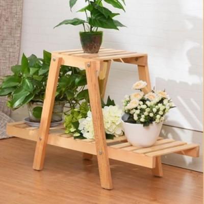 Suporte para vasos de plantas em madeira 15 imagem