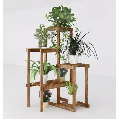 Suporte para vasos de plantas em madeira modelo 14