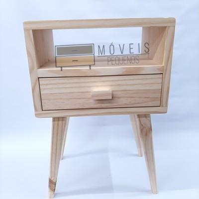 Mesa de Cabeceira Retrô madeira imagem