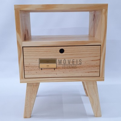 Mesa de cabeceira estilo Retro feito em madeira imagem