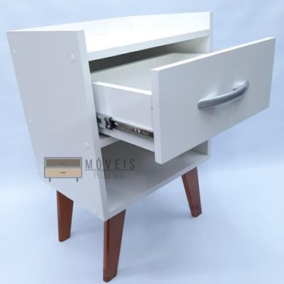 Mesa de Cabeceira Retrô com gaveta e 1 nicho imagem