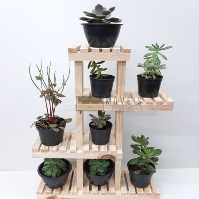 Mini suporte para suculentas e flores modelo 01 Expositor de Plantas, Entregas no Brasil imagem