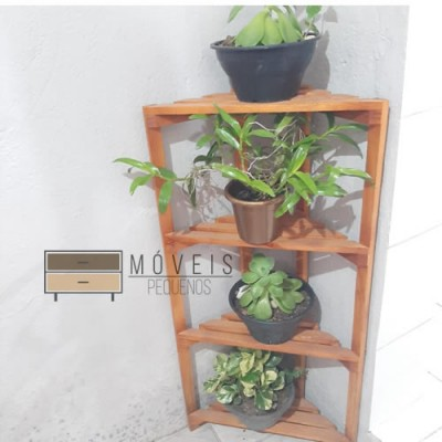 Estante para Plantas de canto Suporte para Plantas, Expositor de Plantas imagem